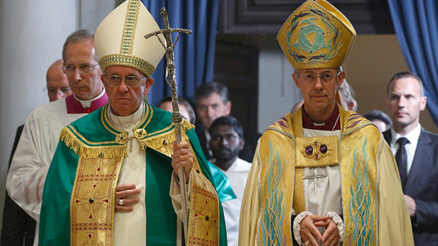 Pope and Archbishop Welby send out bishops to promote unity