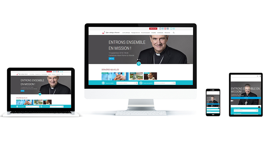 The archdiocese of Montreal has a new website