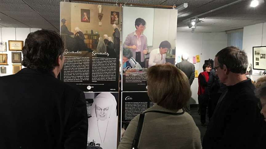 Exhibition EDUCATE TO LIBERATE for the 75th anniversary year of the Sisters of the Holy Names of Jesus and Mary
