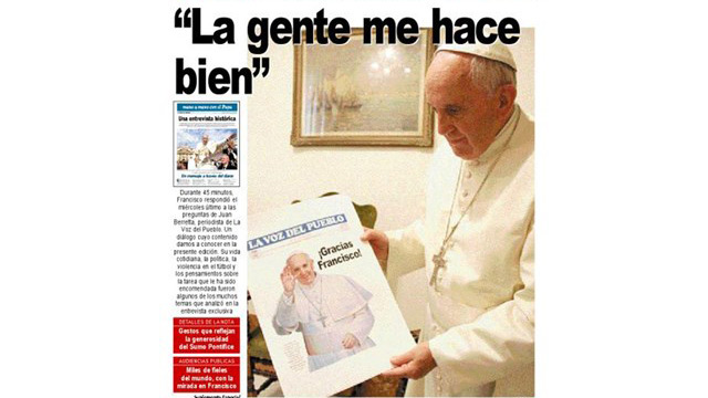 Pope speaks with open heart to Argentinean newspaper