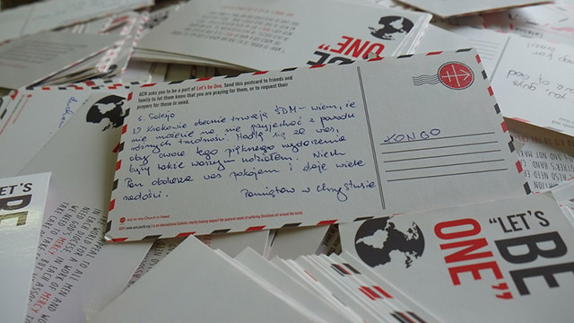 3,000 postcards for the young people of the Church in need