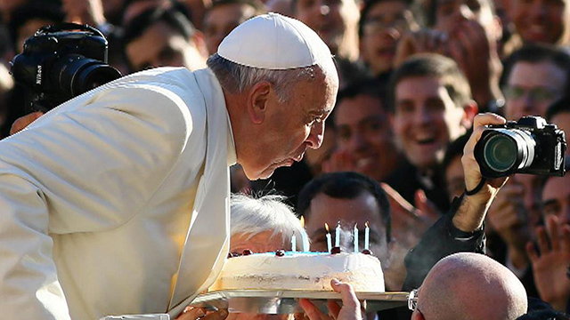 Wish Pope Francis happy birthday by email