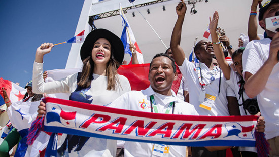 Young people gathered in Panama