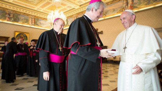 Archbishop Lépine meeting Pope Francis