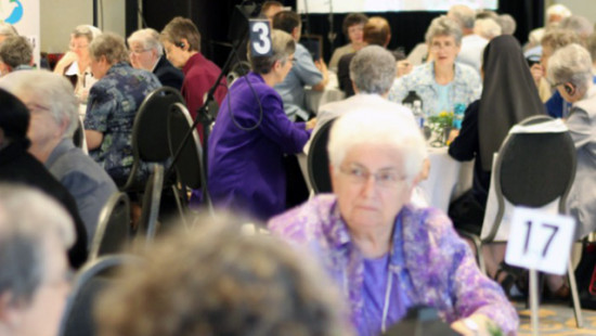 Members of Religious Communities gathered for the general assembly of the Canadian Religious Conference