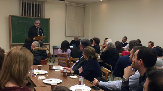 Archbishop Lépine welcomes refugee families